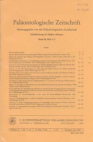Paläontologische Zeitschrift. Band 58, Nr. 1/2. Herausgegeben: Paläontologische Zeitschrift. -