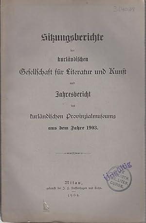 Sitzungsberichte der Kurländischen Gesellschaft für Literatur und: Kurland. - Sitzungsberichte.
