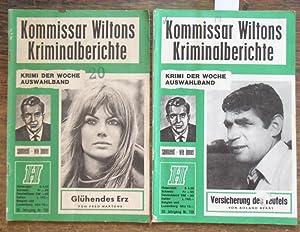 Kommissar Wiltons Kriminalberichte. Konvolut mit 2 Heften.: Kommissar Wiltons Kriminalberichte.