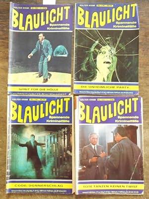 Blaulicht. Konvolut mit 4 Heften. Enthalten sind: Blaulicht. Kelter Krimi.