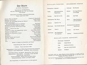 Der Sturm. Spielzeit 1969 / 1970. General-Intendant: Schiller-Theater Berlin. William