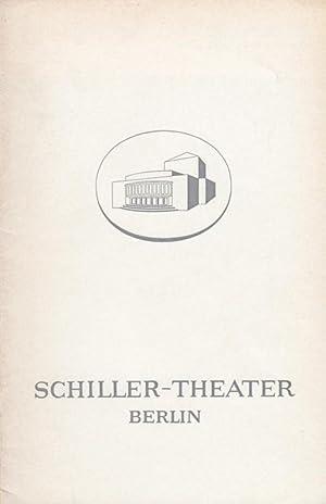 Faust II. Spielzeit 1968 / 1969. General-Intendant: Schiller-Theater Berlin. Johann