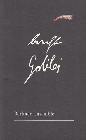 Leben des Galilei. Schauspiel . Mitarbeit Margarete: Berliner Ensemble. Bertolt