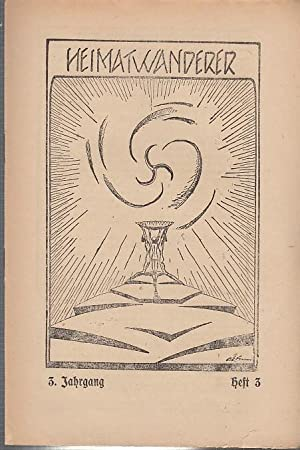 Heimatwanderer. 3. Jahrgang Juli - September 1923,: Heimatwanderer. - Schulz,