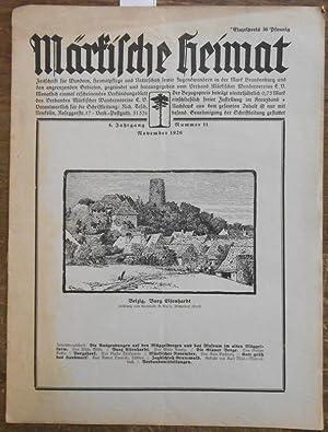 Märkische Heimat. 4. Jahrgang - November 1926: Märkische Heimat -