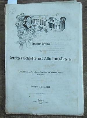 Correspondenzblatt des Gesammt-Vereines der deutschen Geschichts- und: Correspondenzblatt des Gesammt-Vereines