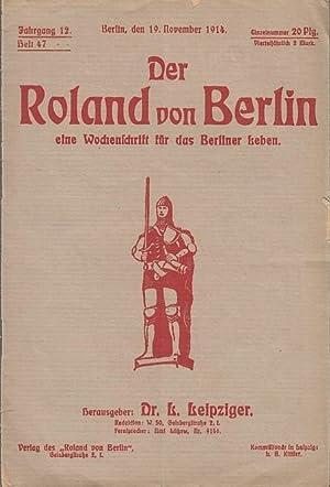 Der Roland von Berlin. Jahrgang 12, Heft: Roland von Berlin