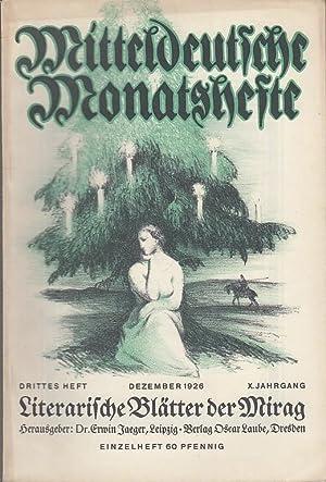 Mitteldeutsche Monatshefte (Sächsische Heimat). Literarische Blätter der: Mitteldeutsche Monatshefte -
