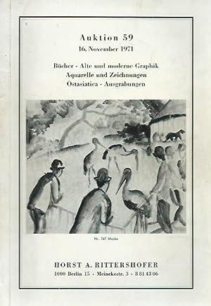Katalog der Auktion 59 vom 16. November: Horst A. Rittershofer,