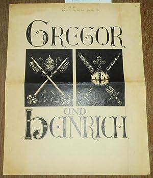 Gregor und Heinrich. Schauspiel in 5 Aufzügen.: Schiller- Theater der
