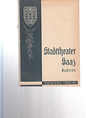 Bühnenblätter des Stadttheaters in Saaz und Spielzeit: Stadttheater Saaz /