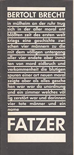 Untergang des Egoisten Fatzer. Fassung Müller, Heiner.: Berliner Ensemble. Brecht,