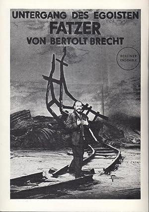 Untergang des Egoisten Fatzer. Fassung Müller, Heiner.: Berliner Ensemble. -