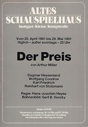Der Preis. Spielzeit 1991 / 1992. Regie Heyse, H.J. Bühne Venzky, Gert B. Mit: Hessenland, Dagmar /...