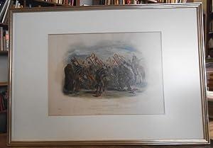 Ischohä - Kakoschochatä. Tanz der Mandan Indinaner: Bodmer, Carl (1809
