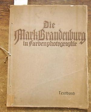 Die Mark Brandenburg in Farbenphotographie. Hier nur: Goerke, Franz (Hrsg.):
