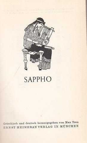 Sappho. Lieder. Griechisch und deutsch.: Sappho. - Treu,