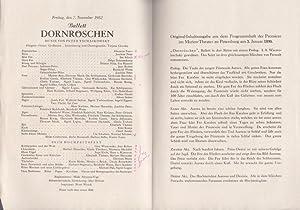 Dornröschen. Ballett. Spielzeit 1952 / 1953. Dirigent: Berlin . Deutsche