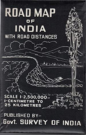 Road map of India. With road distances.