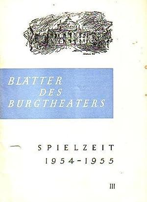 Programm-Heft zu 'Der Traum ein Leben'. Dramatisches: Grillparzer, Franz -