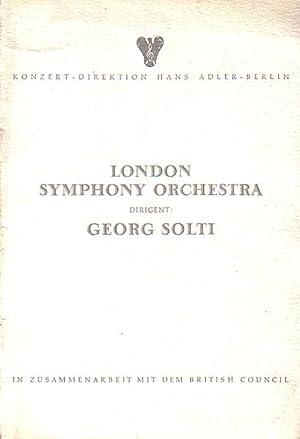 Programm-Heft zu dem Konzert des 'London Symphony: Konzertdirektion Gans Adler