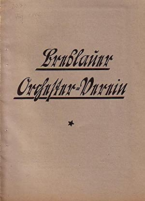 Breslauer Orchester - Verein / Programm -: Beethoven, Ludwig van: