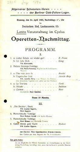 Allgemeiner Schwestern - Verein der Berliner Odd: Deutscher Hof. -
