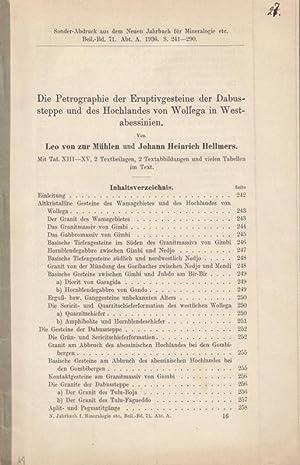 Die Petrographie der Eruptivgesteine der Dabussteppe und: Mühlen, Leo von