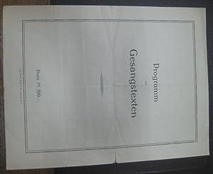 Programmheft zum Konzert der Kammerkonzert-Vereinigung (Dirigent: Gustav: Bach