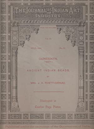 Ancient Indian Beads. Published under the patronage: Rivett-Carnac, Mrs. J.