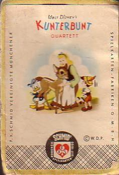 Walt Disney's Kunterbunt Quartett. Ein Quartettspiel (mit: Quartett. - Walt