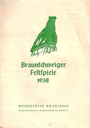 Programmzettel zu 'Die Nibelungen'. Deutsches Trauerspiel. Regie: Hebbel, Friedrich: