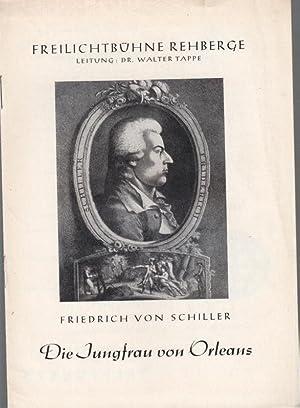 Die Jungfrau von Orleans. Spielzeit 1959. Programmheft Freilichtbühne Rehberge. Inszenierung: ...