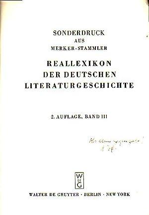 rede (mhd.) Sonderdruck aus Merker-Stammler - Reallexikon: Schröder, Walter Johannes