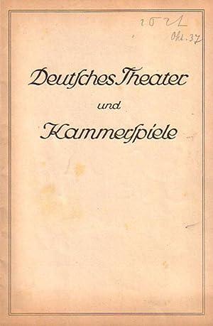 Blätter des deutschen Theaters und der Kammerspiele.: Deutsches Theater und