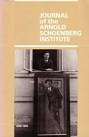Journal of the Arnold Schoenberg Institute (University: Schoenberg, Arnold