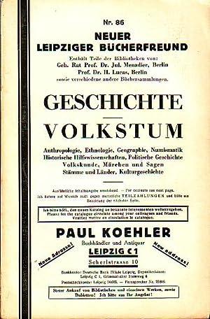 Katalog Nr. 86 Neuer Leipziger Bücherfreund : Koehler, Paul