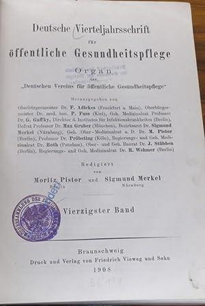 Deutsche Vierteljahresschrift für öffentliche Gesundheitspflege ...