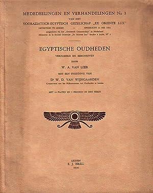 Egyptische Oudheden. (= Mededeelingen en Verhandelingen No: Leer, W. A.