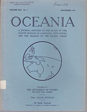 Oceania : A Journal devoted to the: Oceania. - Elkin,