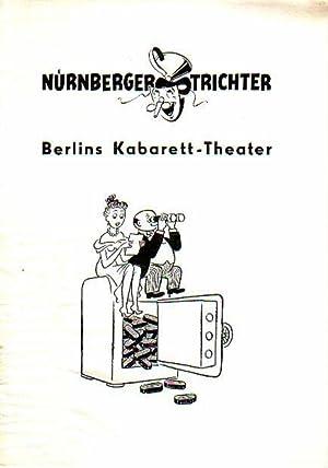 Programm-Heft zu 'Wir sitzen wie auf Kohlen: Berlin. - Tuntsch,