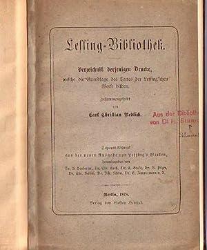 Lessing - Bibliothek. Verzeichnis derjenigen Drucke, welche: Lessing. - Redlich,