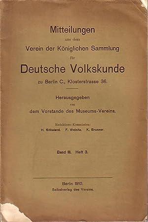 Mitteilungen aus dem Verein der Königlichen Sammlung: Bartels, Max und