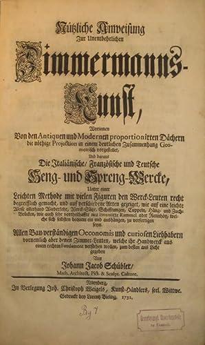 Sammelband mit 4 Teilen von Johann Jacob: Schübler, Johann Jacob: