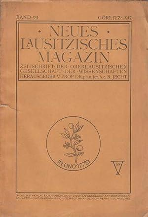 51332ae011ff31 Neues Lausitzisches Magazin. Zeitschrift der Oberlausitzischen  Gesellschaft  Jecht