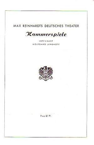 Programmzettel des Deutschen Theaters und der Kammerspiele: Berlin Deutsches Theater