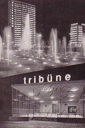 Programmhefte der Tribüne. Spielzeit 1961 / 1962,: Berlin. Die Tribüne.
