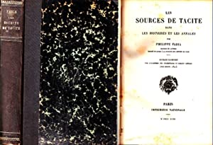 Les sources de Tacite dans les Histoires: Tacitus, Publius Cornelius.
