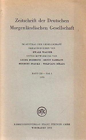 Zeitschrift der Deutschen Morgenländischen Gesellschaft, Bd. 125: Zeitschrift der Deutschen