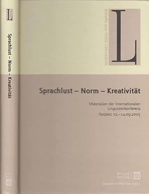 Sprachlust - Norm - Kreativität. Materialien der: Cirko, Leslaw ;